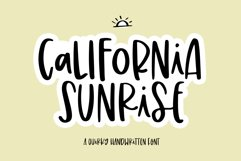 California Sunrise - A Handwritten Font with Alternatives! Product Image 1