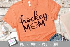 Hockey mom SVG - Sports mom SVG file, handlettered Product Image 1