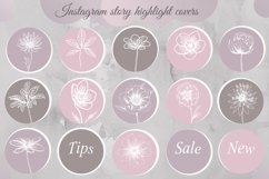 Pastel Flower instagram highlight icons, trendy stories Product Image 2