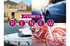 Insurance Renewal Postcard Template Product Image 4