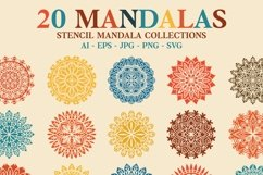 20 Mandala Stencil Collections Product Image 1