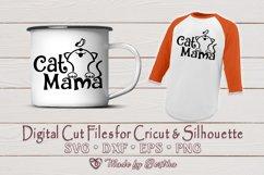 Cat Mama, Cat Mom, Pet Mom, Cat Lover- SVG cut file Product Image 2