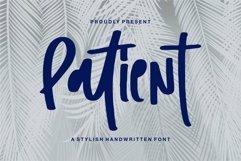 Web Font Patient - A Stylish Handwritten Font Product Image 1