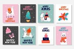 Christmas Llama cards Product Image 3
