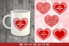 Heart SVG,Happy Valentines Day,Floral Heart,Heart Papercut Product Image 2