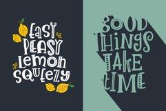 Lemon Slice Font Trio Product Image 5