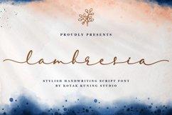 Elegant Script - Lambresia Font Product Image 1