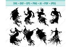Ghosts SVG, Halloween SVG, Spirit Svg, Soul Png, Dxf, Eps Product Image 1