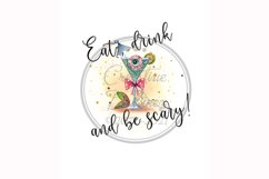 Eat Drink & Be Scary, Halloween Funny Towel Pun, Sublimation Product Image 1