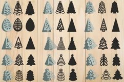 Christmas Earrings SVG, Christmas Tree SVG, Pendant Template Product Image 1