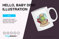 Hello, Baby Dino Vector Illustration Product Image 2