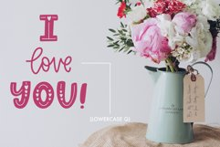 Love Struck, Thick Valentine's Heart Font Product Image 6