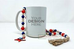 Mockup   Sublimation Mug Patriotic USA  Craft mock up Product Image 1