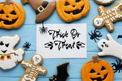 Spooky Halloween Dripping Script With Doodles Product Image 6