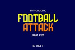 Football Attack Sport Font Product Image 1