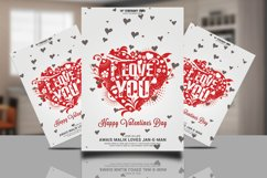 Valentines Psd Flyer Product Image 1