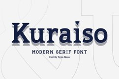 Kuraiso Serif Product Image 1