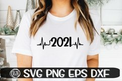 2021 - Heartbeat - New Year Svg - SVG PNG EPS DXF Product Image 1