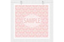 Pink Damask Digital Paper Product Image 5