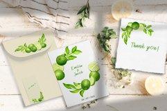 Watercolor Lime Arrangements clip art set Product Image 3