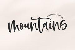 Mountains - A Handwritten Script Font Product Image 1