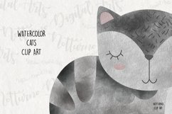 Watercolor Cat Clipart. Set of 10 png digital clipart Product Image 5