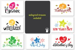 Baby milestone svg bundle, Baby's first USA holidays, my 1st Product Image 2