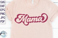 Retro Mama Outline SVG Product Image 1