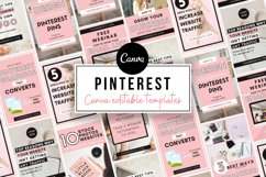 Pinterest Templates Canva, Canva Templates, Pinterest Pins Product Image 1