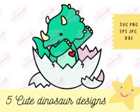 Baby Dinosaur SVG - SVG Files for Cricut, Cute Tshirt Design Product Image 6