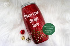 Red Glitter Tumbler Mock Up Product Image 1