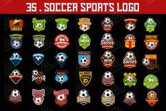 Set 35 Football Soccer Logo Emblem Template Product Image 2