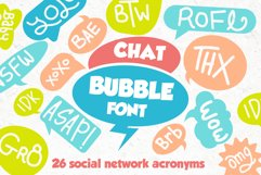 Chat Bubble Font Product Image 1