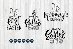 Baby Easter SVG Bundle. Happy Easter SVG set. Easter Bunny Product Image 1