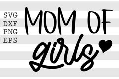 Mom of girls SVG Product Image 1
