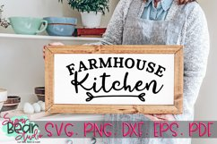 Farmhouse Kitchen - A Kitchen Quote SVG Product Image 1