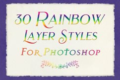 Rainbow Layer Styles - Set of 30 Styles for Photoshop Product Image 4