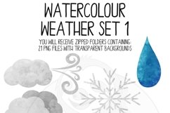Watercolor Weather Clip Art Set Product Image 3