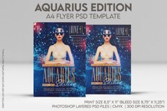Aquarius Edition A4 Flyer PSD Template Product Image 1