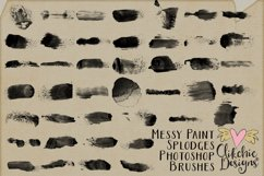 Messy Watercolor Paint Splodge Photoshop Brushes Product Image 2