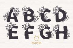 Floral alphabet svg, Floral Monogram letters Bundle, Wedding Product Image 2