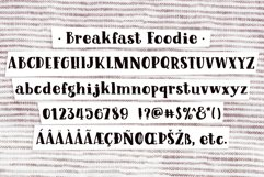 Breakfast Foodie, a painted serif font Product Image 6