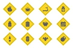 Set Of Fitness And Health Icons Product Image 1