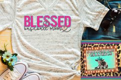 Blessed Baseball Mom Sublimation Download Product Image 1
