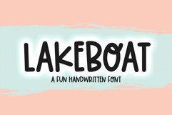 Lakeboat - A Quirky Handwritten Font Product Image 1
