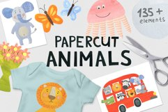 Papercut Animals Clipart Product Image 1