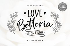 Love Betteria a Lovely Font Duo Product Image 1