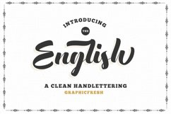 The English Font - Vintage Lettering Product Image 1