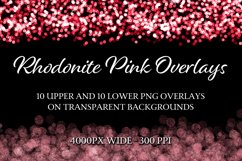 Rhodonite Pink Overlays - 10 Upper and 10 Lower Overlays Product Image 1