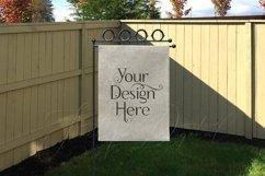 Yard Flag Mockups for Autumn, White & Burlap Flag Mock-Ups Product Image 2